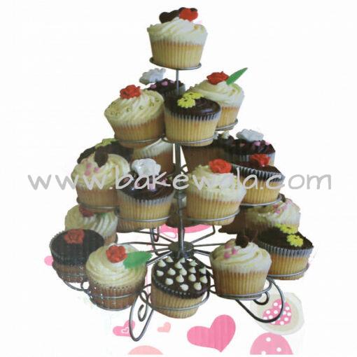 Metal Cupcake Stand - 4 Tier - 23 cupcake holder