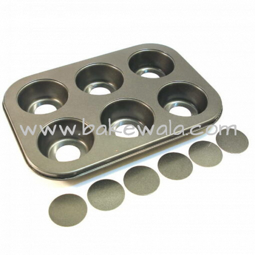 Nonstick Muffin Tray - Removable Base - 6 Cups