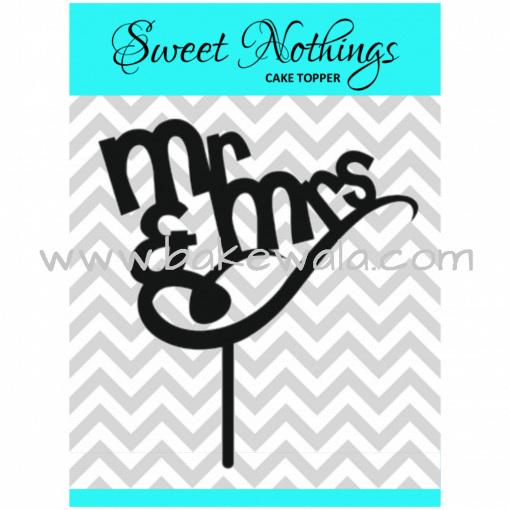 Acrylic Cake Topper or Silhouette - Mr and Mrs - Design 13