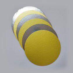 "Cake Base - Round - Dual tone - Gold & Silver - 11.75"""