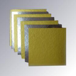 Cake Base - Square - Dual tone - Gold & Silver - 8.75
