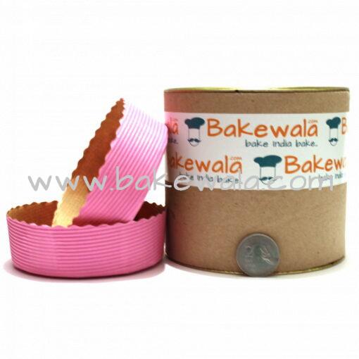 Novacart Cake Baking Paper Moulds - Pastel Pink - 12 Pieces