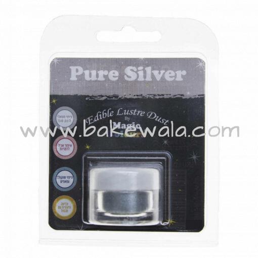 Magic Colours - Edible Lustre Dust - Pure Silver - 8 ml