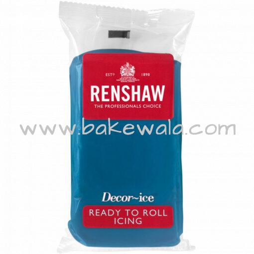 Renshaw Ready to Roll Fondant Icing - Atlantic Blue - 250 gms
