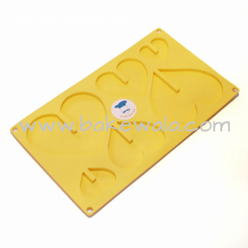 Silicon Chocolate Mould - 3D Heart Shape