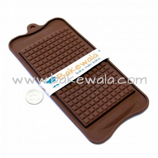 Silicon Chocolate Garnish Mould - Cobbled