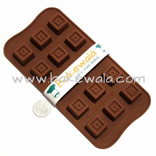 Silicon Chocolate Mould -Square Illusion