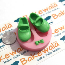 Silicon  Mould - Baby Shoes and Bow