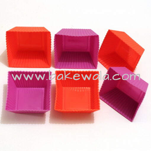 Silicone Square Brownie Mould - 6 cups
