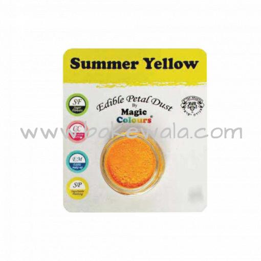 Magic Colours - Edible Petal Dust - Summer Yellow - 8 ml