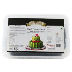 Vizyon - Black Sugar Paste or Fondant - 1 Kg