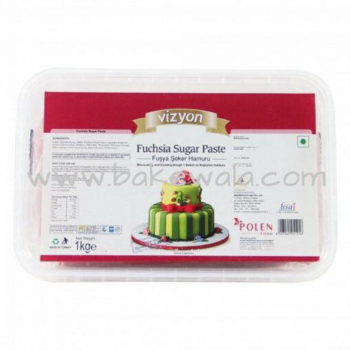 Vizyon - Fuchsia Sugar Paste or Fondant - 1 kg