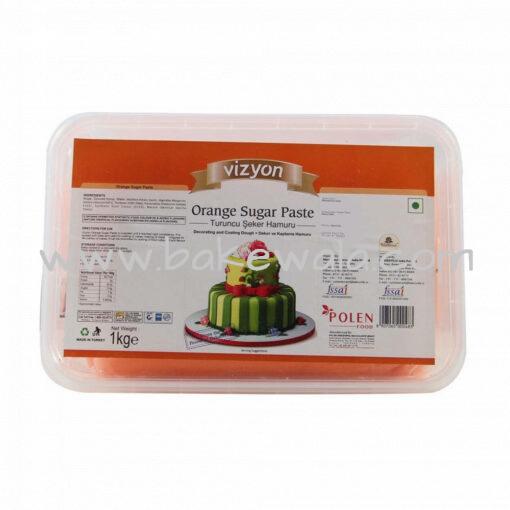 Vizyon- Orange Sugar Paste or Fondant - 1 Kg