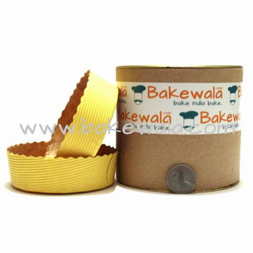 Novacart Cake Baking Paper Moulds - Pastel Yellow - 12 Pieces