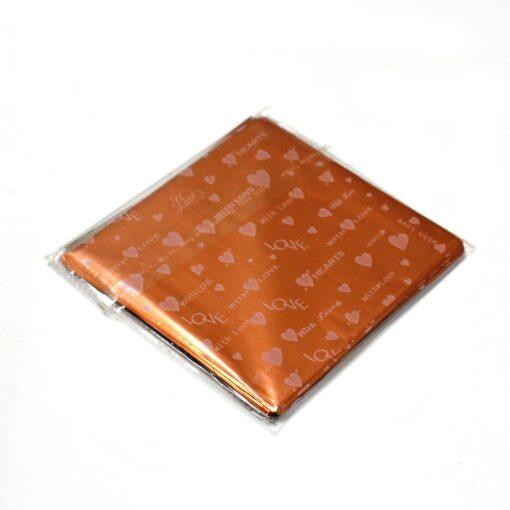 Chocolate Wrapper -Heart Design - Orange -  300 pcs