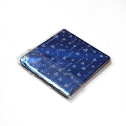 Chocolate Wrapper -Heart Design - Royal Blue -  300 pcs
