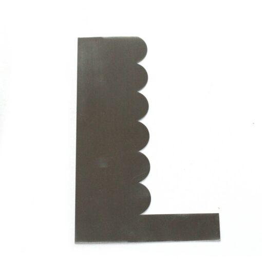Stainless Steel Cake Scraper - Type 8