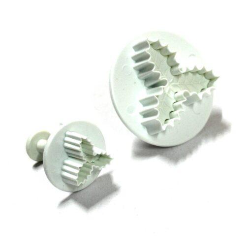 Plunger Cutter - Holly Leaf - Set of 2