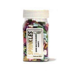 Sugar Shine - Sprinkles - Hearts Multi Coloured - 65g