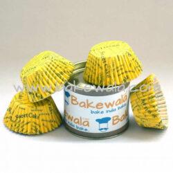 Cupcake Paper Liners - Yellow - 10.5cm - 100 pcs