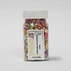 Sugar Shine - Sprinkles - Multicoloured Stars - 65g