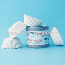 Cupcake Paper Liners - White - 10.5cm - 100 pcs